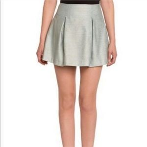 BCBGeneration Flare Skater Mini Skirt light grey